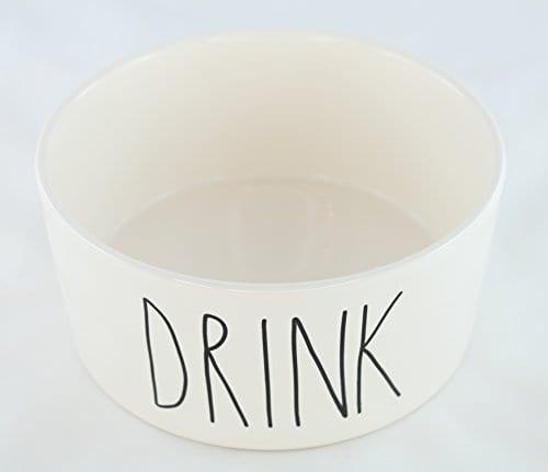 Rae Dunn Magenta Ceramic Large Dog Cat Pet Bowl 6 Inch Drink 0