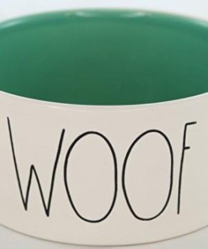 Rae Dunn Magenta Ceramic Large Dog Cat Pet Bowl Woof 6 Inch Sea Foam Green 0 300x360