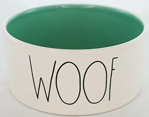 Rae Dunn Magenta Ceramic Large Dog Cat Pet Bowl Woof 6 Inch Sea Foam Green 0