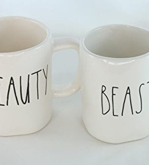 Rae Dunn Magenta Ceramic Mug Beauty Beast Set Of 2 0 300x333