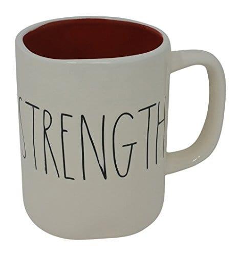 Rae Dunn Magenta Ceramic Mug Strength 0