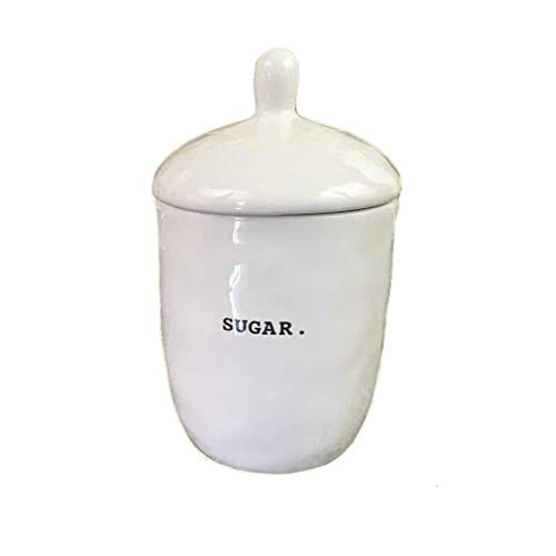 Rae Dunn Magenta Ceramic Sugar Bowl Pot Container With Lid Typewriter Sugar 0