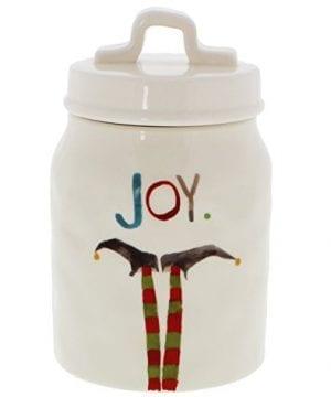 Rae Dunn Magenta JOY Elf Christmas Canister 0 300x360