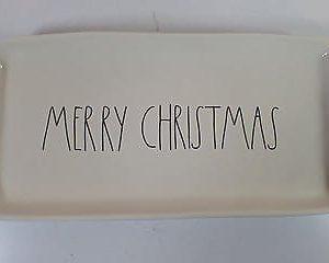 Rae Dunn Magenta MERRY CHRISTMAS Platter Plate 0 300x240