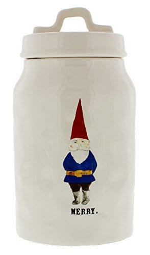 Rae Dunn Magenta MERRY Gnome Christmas Canister 0