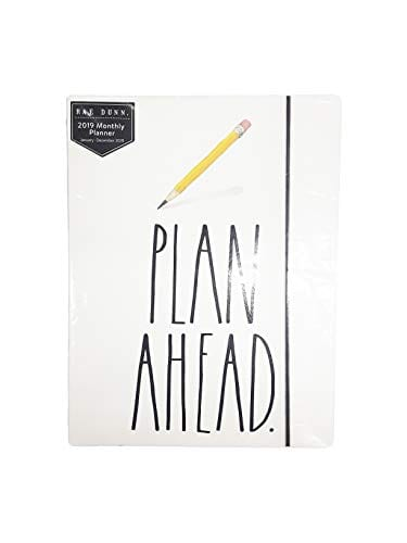 Rae Dunn Plan Ahead 2019 Monthly Planner Calendar 17 Months Aug 2018 Dec 2019 To DoNotes 0