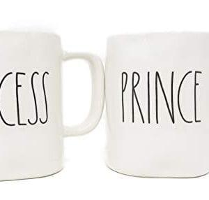 Rae Dunn Prince Princess Coffee Mug Set 0 0 300x286