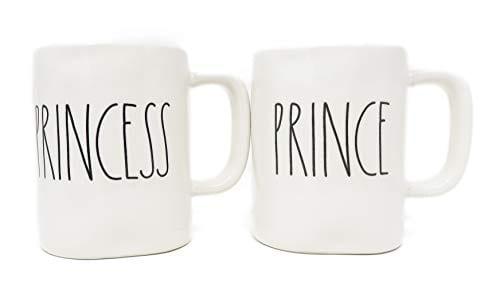 Rae Dunn Prince Princess Coffee Mug Set 0 0