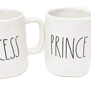 Rae Dunn Prince Princess Coffee Mug Set 0 1 300x280