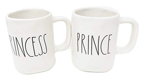 Rae Dunn Prince Princess Coffee Mug Set 0 1