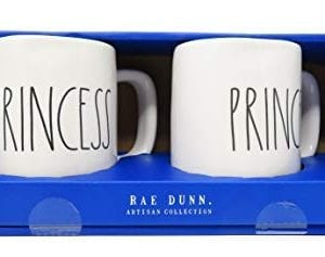 Rae Dunn Prince Princess Coffee Mug Set 0 300x237