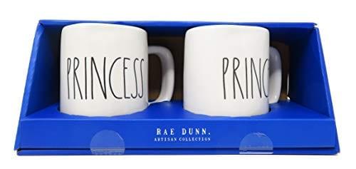 Rae Dunn Prince Princess Coffee Mug Set 0