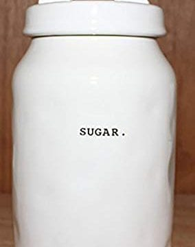Rae Dunn SUGAR In Typeset Letters Canister Food Storage Container Cookie Jar Sugar Bowl With Sealing Lid By Magenta 0 284x360
