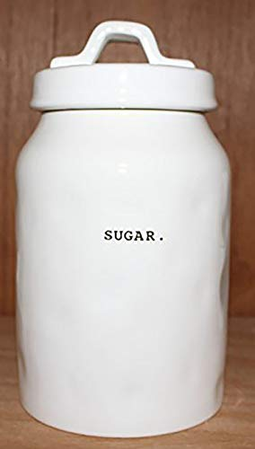 Rae Dunn SUGAR In Typeset Letters Canister Food Storage Container Cookie Jar Sugar Bowl With Sealing Lid By Magenta 0