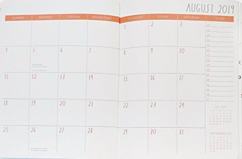 Rae Dunn Seize The Day 2019 Monthly Planner Calendar 17 Months Aug 2018 Dec 2019 To DoNotes 0 0