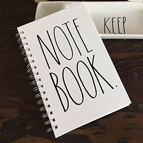 Rae Dunn Spiral Notebook Journal Diary Office School Notes 0 2