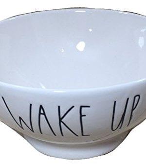Rae Dunn WAKE UP Cereal Soup Bowl 0 300x343