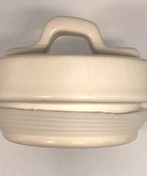Rae Dunn WOOF LL Dog Treat Food Canister White Ceramic With Lid 0 2 300x360