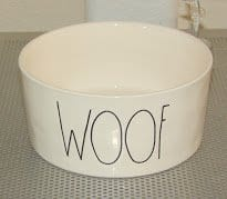 Rae Dunn WOOF Large 6 Ceramic Dog Bowl 0