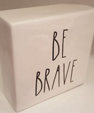 Rae Dunn WORK HARDBE BRAVE LL Decorative Paperweight Desk Office Square 0 0 300x360