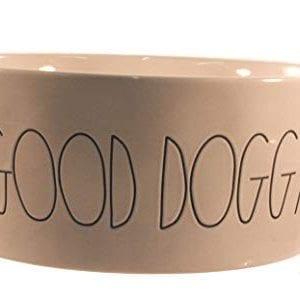 Rae Dunn X Large Good Doggy Large Letter Dog Bowl 0 0 300x299