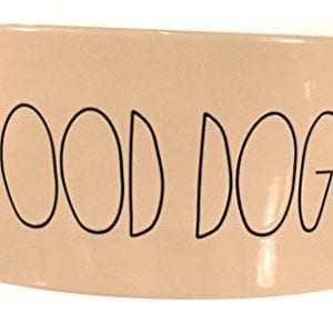 Rae Dunn X Large Good Doggy Large Letter Dog Bowl 0 300x299