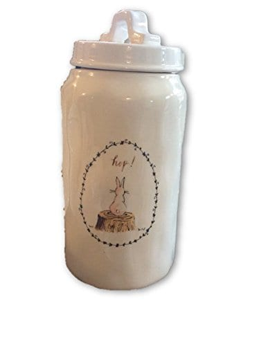 Rae Dunn By Magenta Artisan Collection Easter Hop Ceramic Canister Large 0