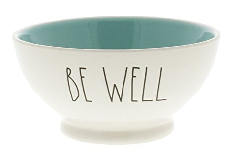 Rae Dunn By Magenta BE WELL Cereal LL Bowl Blue Interior 0