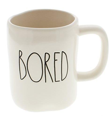 Rae Dunn By Magenta BORED Ceramic LL Coffee Mug 0