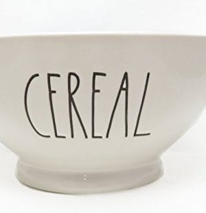 Rae Dunn By Magenta CEREAL Ice Cream Cereal Bowl Blue Interior 0 0 300x310