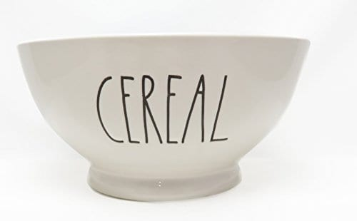 Rae Dunn By Magenta CEREAL Ice Cream Cereal Bowl Blue Interior 0 0