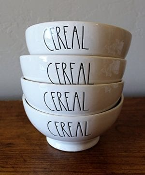 Rae Dunn By Magenta CEREAL In Large Letters 4 Bowl Set Cereal Soup Bowl 0 300x360