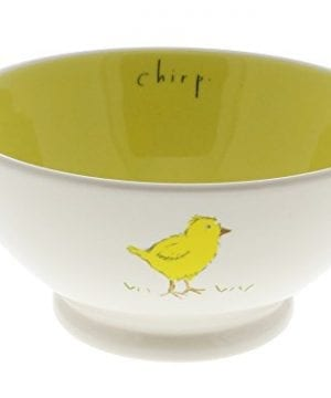 Rae Dunn By Magenta CHIRP Cereal Bowl Yellow Interior 0 300x360