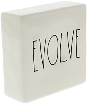 Rae Dunn By Magenta Ceramic Box Sign Desk Paperweight THINK EVOLVE 0 0 300x360