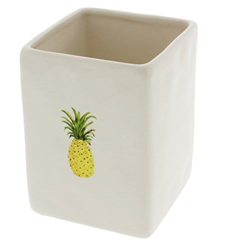 Rae Dunn By Magenta Ceramic PINEAPPLE Pen And Pencil Holder 0