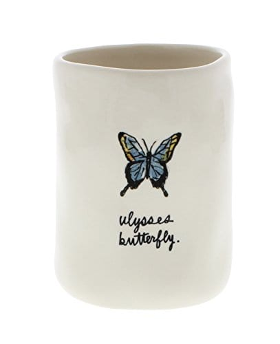 Rae Dunn By Magenta CeramicUlysses Butterfly Pen And Pencil Holder 0