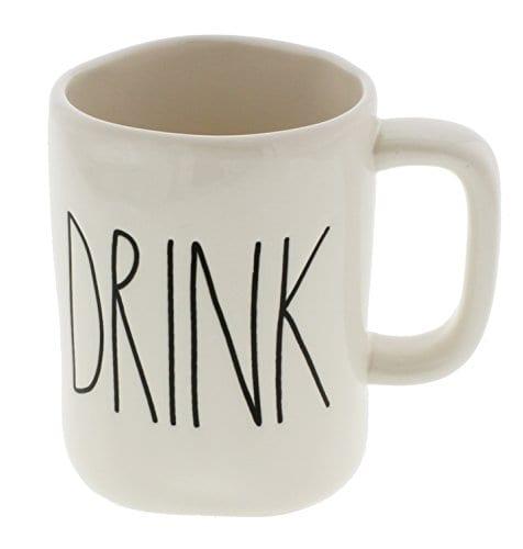 Rae Dunn By Magenta DRINK Ceramic LL Coffee Mug 0