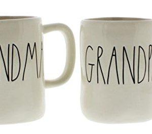 Rae Dunn By Magenta GRANDMA And GRANDPA Ceramic Coffee Mug Set 0 300x264
