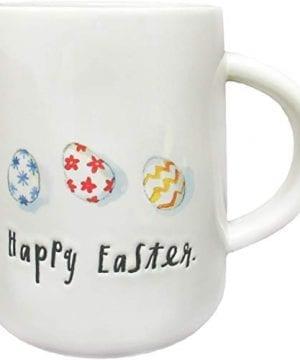 Rae Dunn By Magenta HAPPY EASTER Coffee Mug Colorful Egg Design 0 300x360
