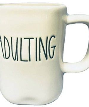 Rae Dunn By Magenta Large Letter ADULTING Coffee Mug 0 300x360