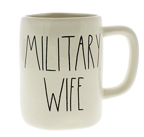 Rae Dunn By Magenta MILITARY WIFE Ceramic LL Coffee Mug 0