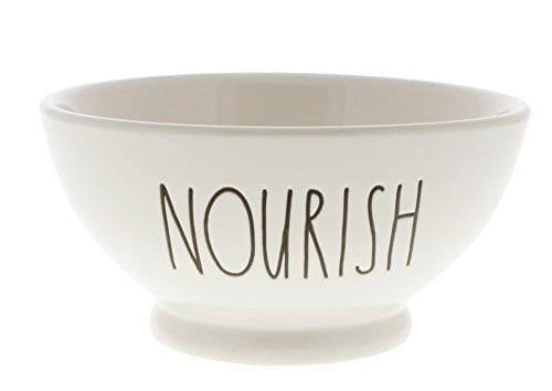 Rae Dunn By Magenta NOURISH Ice Cream Cereal LL Bowl 0