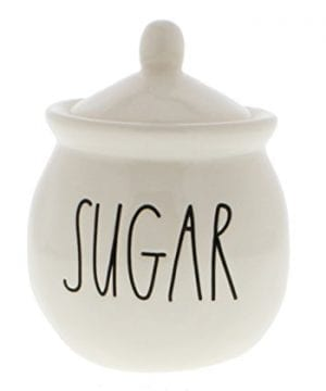 Rae Dunn By Magenta SUGAR Bowl With Lid Large Letters 0 300x360