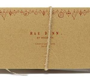 Rae Dunn By Magenta Set Of 2 Noel Peace Ceramic LL Round Bulb Christmas Tree Ornaments 0 1 300x267