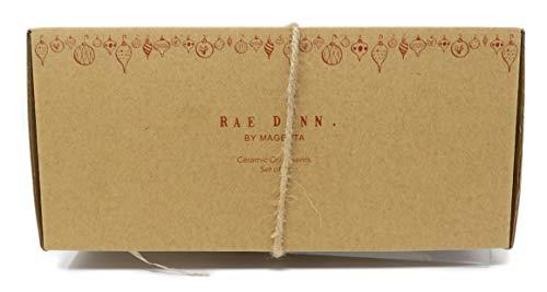Rae Dunn By Magenta Set Of 2 Noel Peace Ceramic LL Round Bulb Christmas Tree Ornaments 0 1