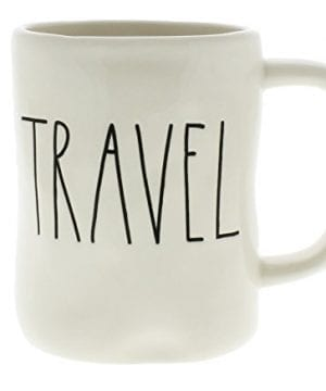 Rae Dunn By Magenta TRAVEL Ceramic LL Coffee Mug 0 300x360