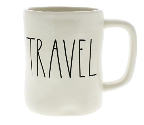Rae Dunn By Magenta TRAVEL Ceramic LL Coffee Mug 0