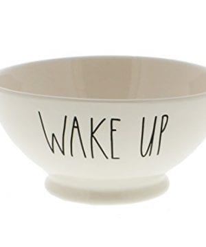 Rae Dunn By Magenta WAKE UP Ice Cream Cereal Bowl 0 300x360