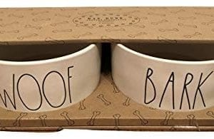 Rae Dunn By Magenta WOOF And BARK Large Pet Bowl Set 0 300x195