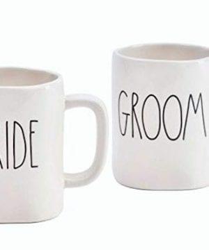 Rae Dunn Set Of Two Mugs Bride And Groom 0 300x360